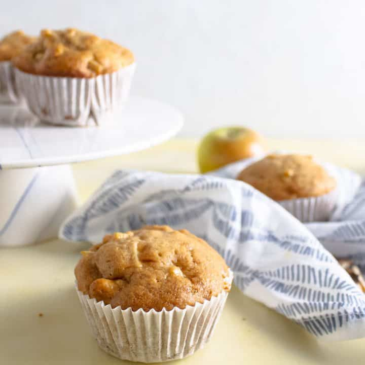 1 Bowl Apple Walnut Muffins