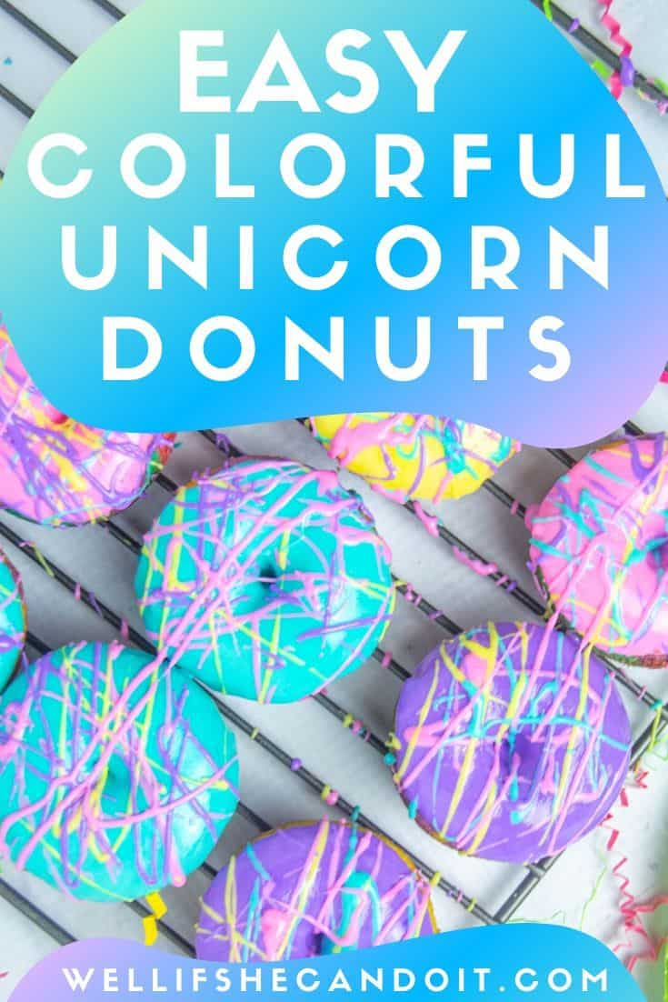 These Colorful Unicorn Donuts are so easy and fun to make. Your kids will love baking and decorating just as much as they love eating them! Perfect easy donut recipe for a fun treat.