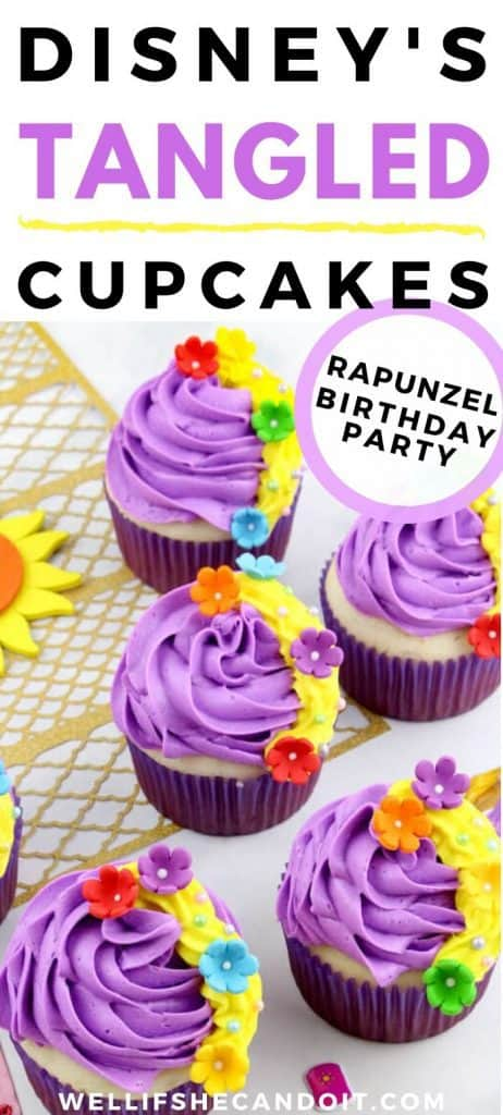 Disney's Tangled Cupcakes - Rapunzel Birthday Party