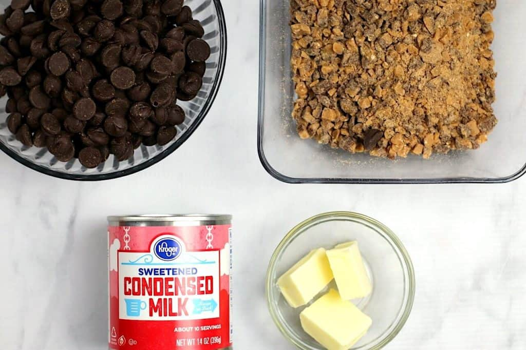ingredients laid out for fudge