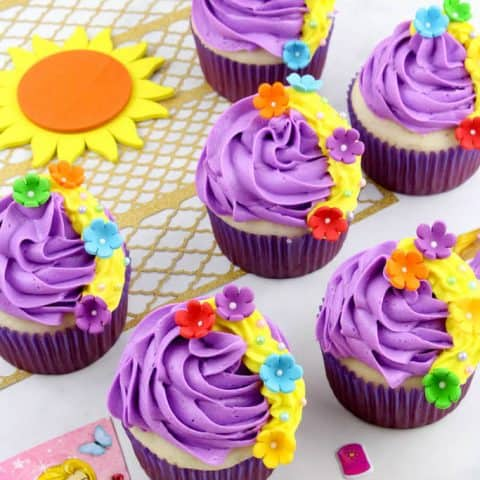 Disney Rapunzel Cupcakes
