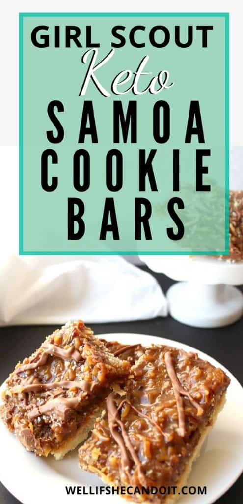 Girl Scout Keto Samoa Cookie Bars