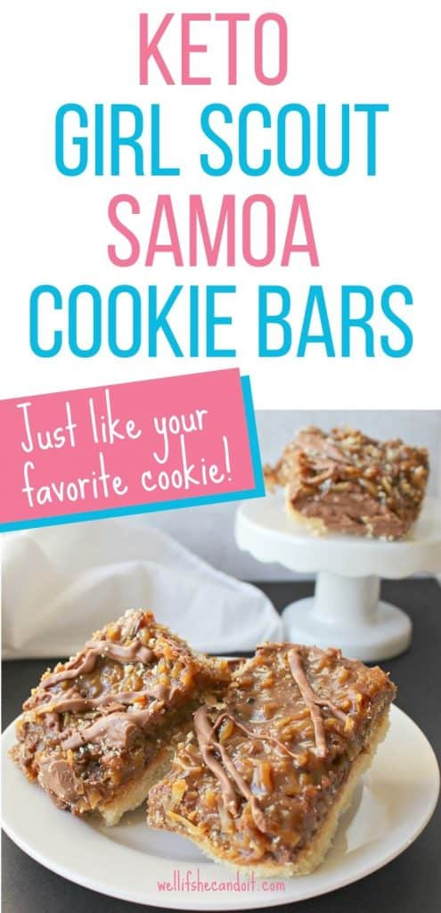 Keto Girl Scout Samoa Cookie Bars Just Like Your Favorite Cookie