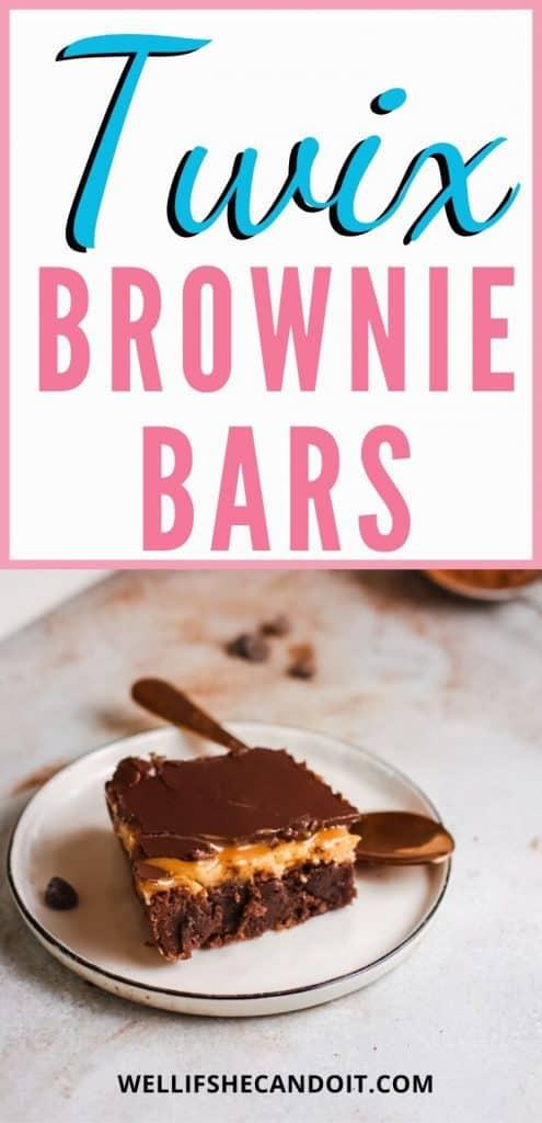 Twix Brownie Bars