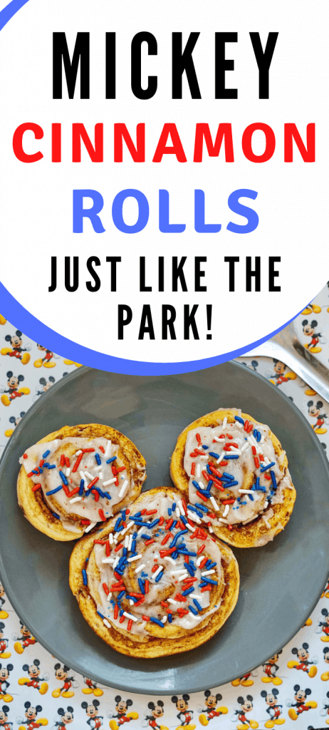 Mickey Cinnamon Rolls Disneyland Parks Copycat Recipe