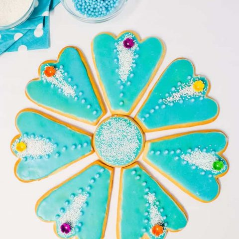 Blue Flower Platter Cookies
