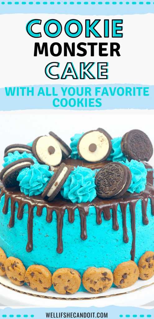 Cookie Monster Cake with all your favorite cookies