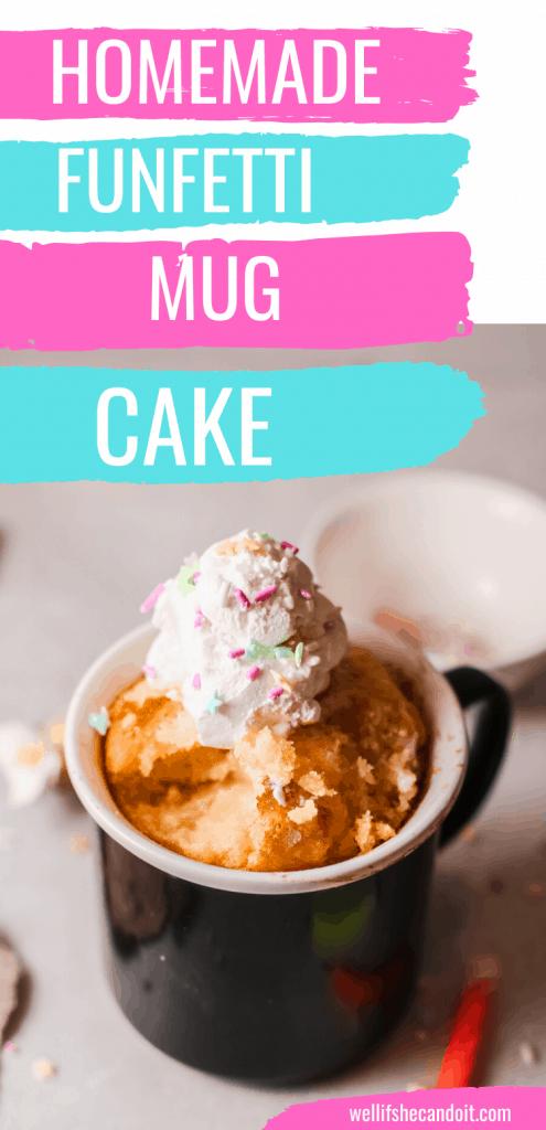 Homemade Funfetti Mug Cake