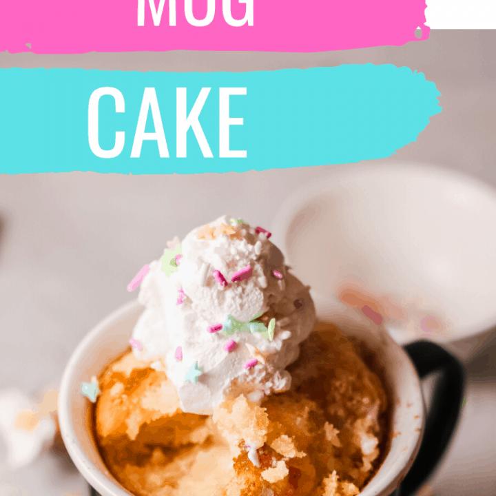 Funfetti Mug Cake: Birthday Cake in a Mug