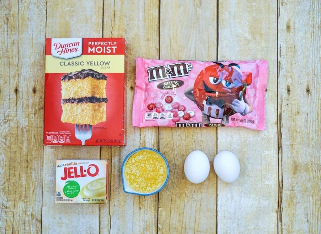 ingredients of m&m cookie bars