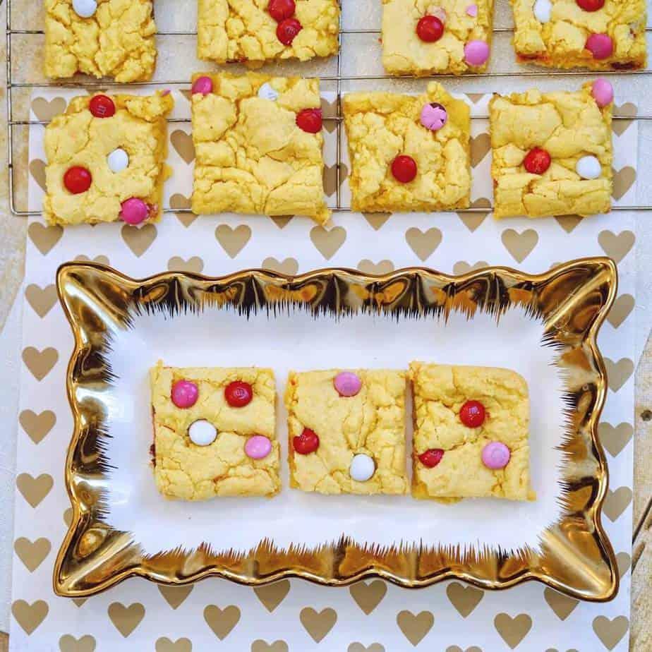 cut m&m cookie bars