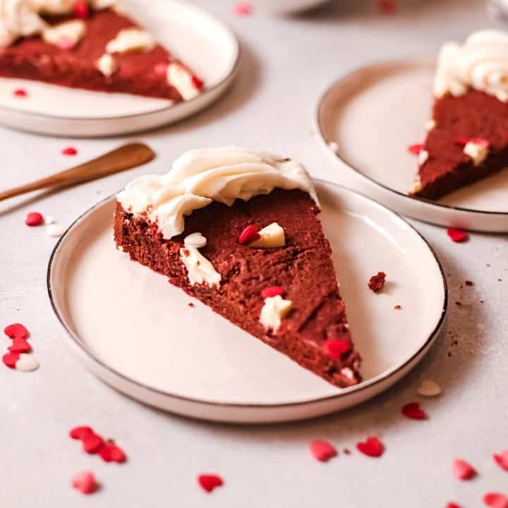 Red Velvet Chocolate Chip Cookie Cake