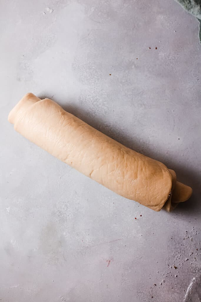 cupcake dough rolled up
