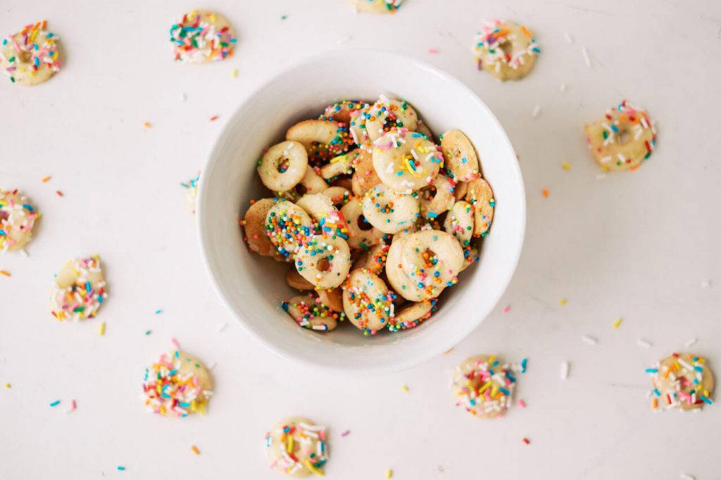 mini donuts in a bowl