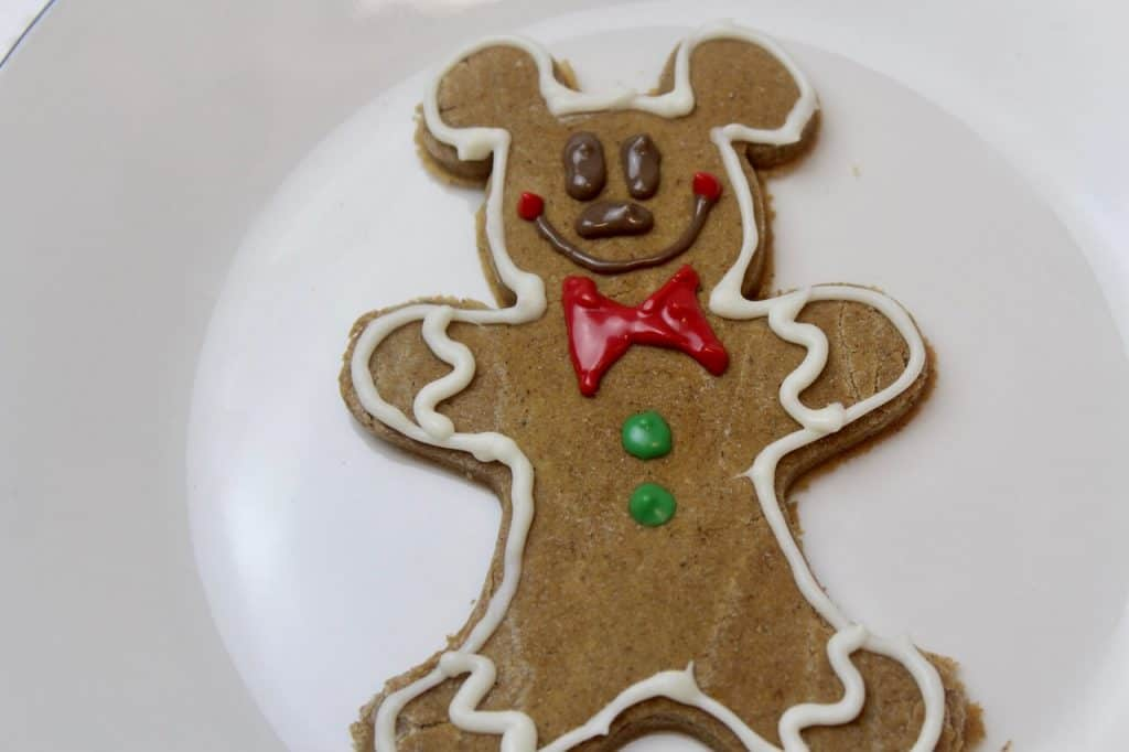 decorated Mickey gingerbread cookie