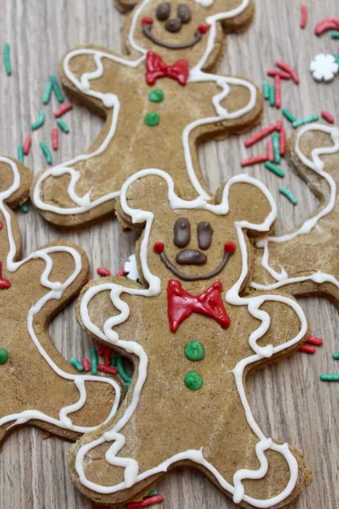 Mickey Mouse Gingerbread Men Cookies