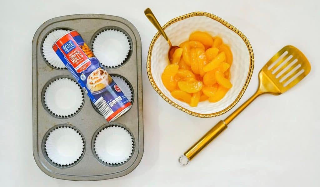ingredients and cupcake tin