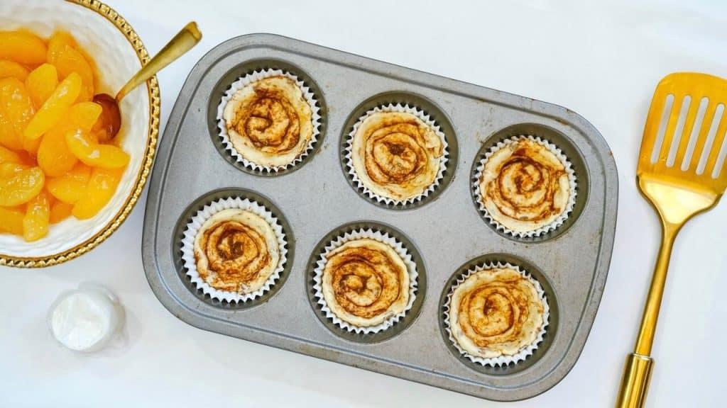 cinnamon rolls in cupcake tin